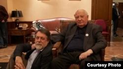 Vitali Mansky and Mikhail Gorbachev