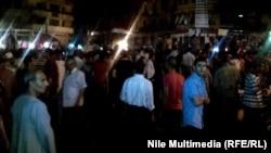 متظاهرون في ميدان التحرير