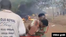 لحظات پس از انفجار تانکر، تانزانیا