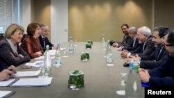 Catherine Ashton və Mohammad Javad Zarif arasında danışıqlar