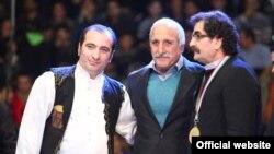 شهرام ناظری (راست) به همراه منصور برزگر