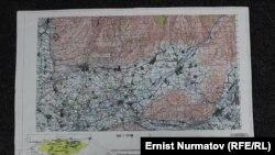 Маданият - Жалал-Абад жолунун долбоордук картасы.