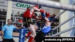 Самыя яркія фота з чэмпіянату Беларусі па тайскім боксе