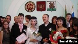 Свадьба Рамая и Лены Юлдашевых. 26 августа 2006 года