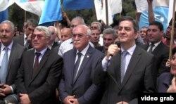 Müxalifət liderləri Novxanıda - 28 may 2013