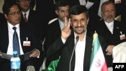 Iranian President Mahmud Ahmadinejad at the Nigeria summit