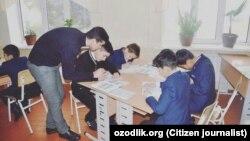 Ученики одной из школ в Андижане.