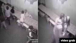 Скриншот видео, снятого, как утверждает Сурхандарьинский областной телеканал, в детском саду Денауского района.