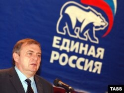 Acting Mayor Anatoly Pakhomov was the ruling United Russia party's candidate.