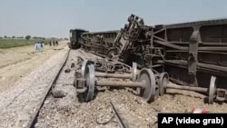 A remote-controlled bomb exploded on a railway line in southwestern Pakistan just as a Quetta-bound passenger train was passing by on March 17.