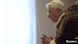 Рим Папасы XVI Бенедикт. Ватикан, 11 ақпан 2012 жыл.
