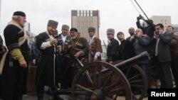 Рамзан Кадыров на параде победы в Грозном. Май, 2018