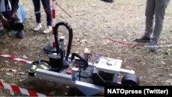 Кадр з відео розміщеного у Twitter @NATOpress