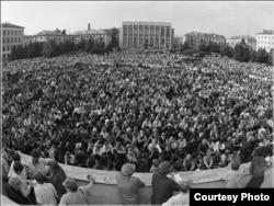 Массовый митинг в Кузбассе