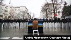 Kijev: ilustracija sa protesta