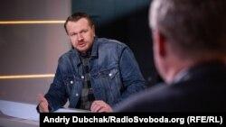 Олександр Положинський у студії Радіо Свобода
