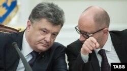 Петро Порошенко і Арсеній Яценюк, архівне фото