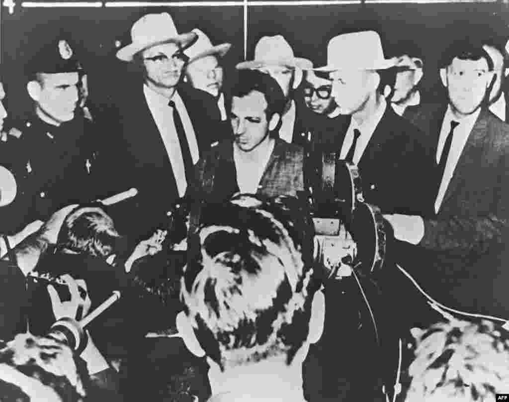 Lee Harvey Oswald, the man arrested for the killing of President Kennedy, spoke at a press conference in Dallas on November 22, 1963.