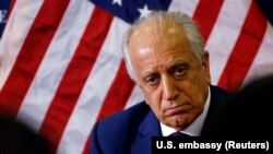 U.S. special peace envoy Zalmay Khalilzad has previously said he held several meetings with all Afghans involved in the conflict -- a reference that would include the Taliban. (file photo)