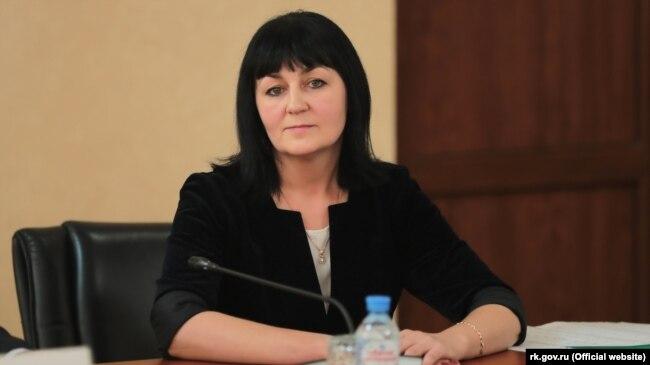 Валентина Лаврик, министр образования, науки и молодежи российского правительства Крыма