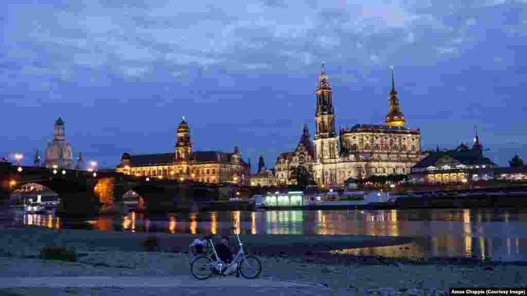 The Dresden waterfront photographed in 2014 after reconstruction projects were completed. The rebuild was helped by a British charity that raised £600,000 ($779,000) from some 2,000 people and 100 companies in 1993.