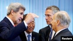John Kerry, Ban Ki-moon, Jens Stoltenberg i Agha Khan