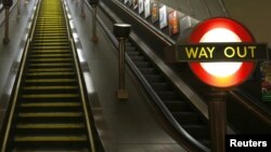 Эскалатор в лондонском метро
