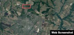 Місце зберігання артилерії на північ від Хрустального