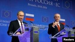 Vladimir Putin şi Herman Van Rompuy
