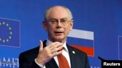 Президент Совета Европейского союза Херман ван Ромпей.