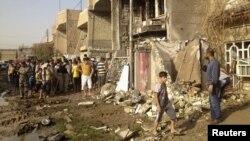 Pamje nga një ndërtesë e shkatërruar nga sulmi i sotëm me bombë në distriktin Chukook në Baghdad
