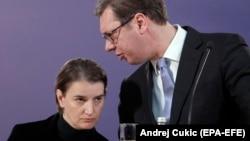 Premijerka i predsednik Srbije, Ana Brnabić i Aleksandar Vučić