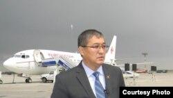"""Жолдошбек Бектурганов, """"Кыргызстан"""" авиакомпаниясынын деректири."""