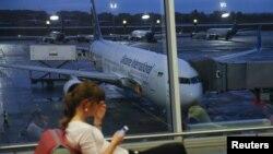 Pamje e një aeroporti në Ukrainë