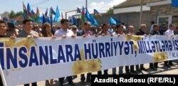 Müsavat Partiyasının yürüşü. 28 may 2019