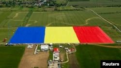 Ռումինիայում կարված աշխարհի ամենամեծ դրոշը,27-ը մայիսի, 2013թ.