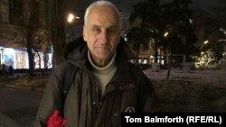 Российский пенсионер Владимир Ионов, участник многих несанкционированных властями акций протеста, активист оппозиционного движения «Солидарность».
