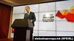 Прес-конференција на Христијан Мицкоски, ден по предвремените парламентарни избори 2020