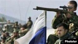 Кадр из фотохроники войны между Россией и Грузией. Август 2008 года.