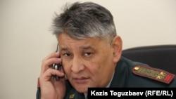 Подполковник Омар Айтказин, заместитель начальника департамента по делам обороны по городу Алматы.