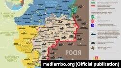 Ситуація в зоні бойових дій на Донбасі, 29 листопада 2018 року (дані Міноборони України)