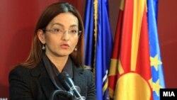 Поранешната министерка за внатрешни работи Гордана Јанкулоска