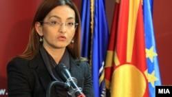 Прес-конференција на министерката за внатрешни работи Гордана Јанкулоска.