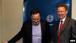 Panagiotis Lafazanis və Aleksei Miller