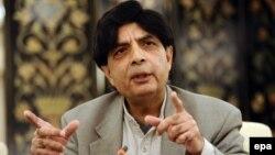 د پاکستان د کورنیو چارو وزیر چوهدري نثار علي خان