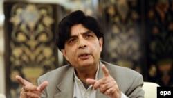 د پاکستان کورنیو چارو وزیر چوهدري نثار علي خان
