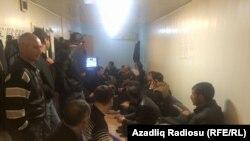 Учителя протестуют против задержки заработной платы. Азербайджан, 30 октября 2015 года.