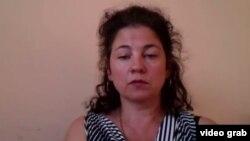 Kazakh rights activist Yelena Semyonova (file photo)