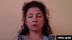 Правозащитник Елена Семенова. Кадр из видеобеседы с Азаттыком.