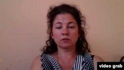 Правозащитник из Павлодара Елена Семенова.